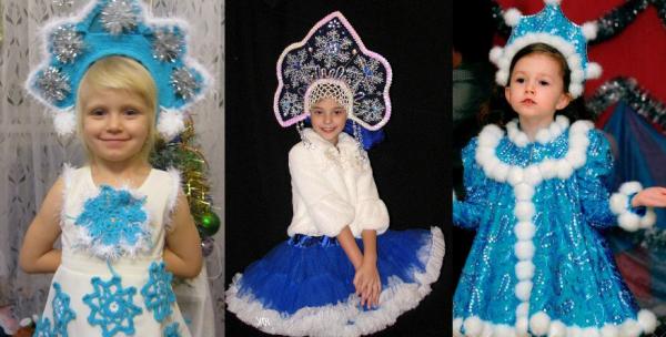 Как сделать своими руками костюм снегурочки