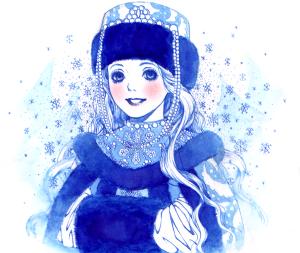 вязаный наряд на новый год Снегурочка