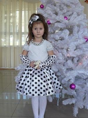 Как сшить детское платье в горошек своими руками