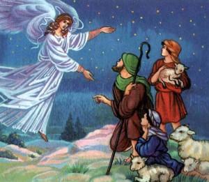 ангел принес великую весть о рождении Иисуса