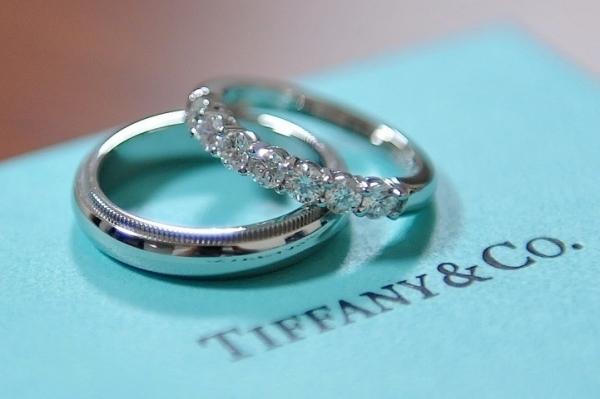 парные обручальные кольца от Тиффани