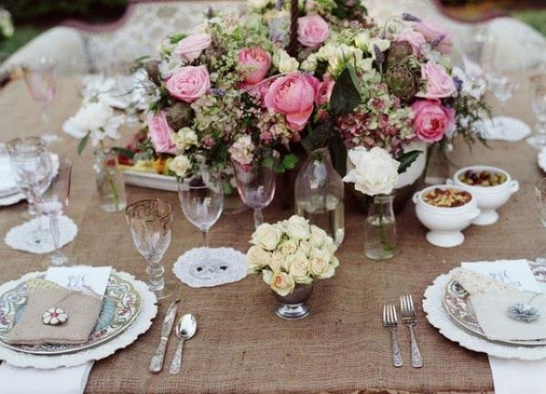 Стол свадьбы в стиле винтаж