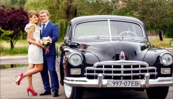 машины на свадьбу в стиле винтаж