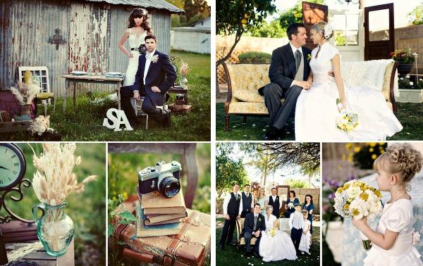 Цветовая палитра свадьбы в стиле винтаж