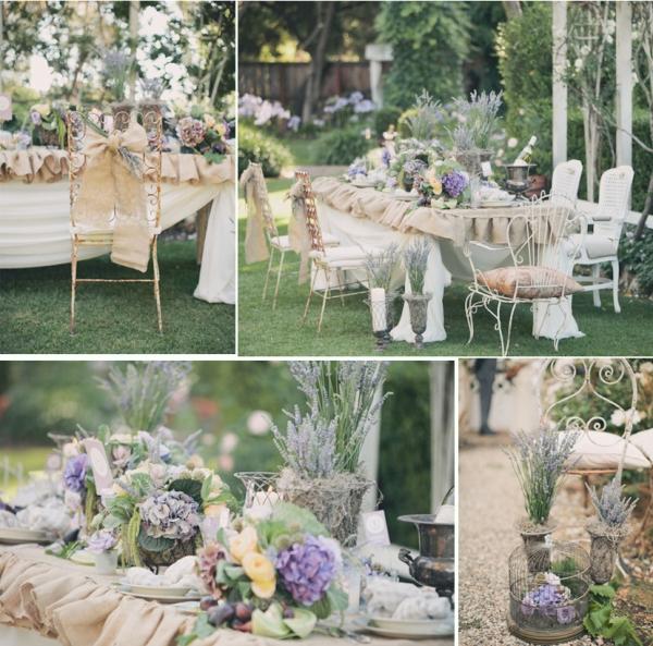 оформление стола на свадьбы в стиле прованс