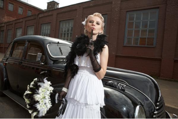 платье невесты на свадьбу в стиле чикаго