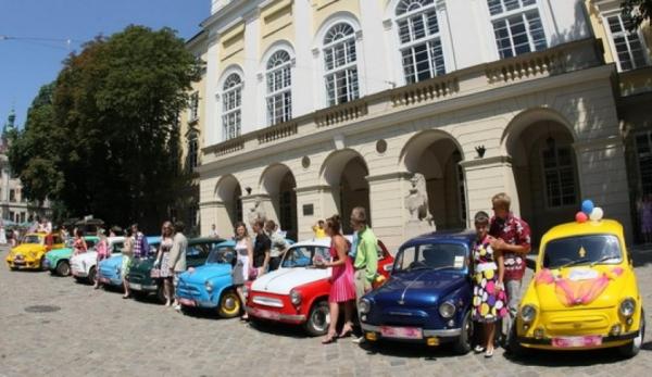 машины на свадьбу в стиле Стиляги