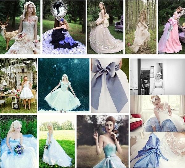свадебное платье невесты в стиле Алисы в стране чудес