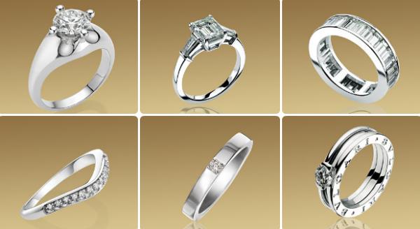 дорогие обручальные кольца от ювелирного дома Булгари