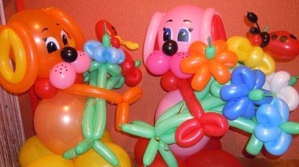 фигурки из надувных шариков