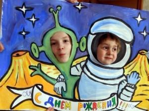 день рождения для детей в стиле космос