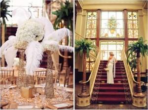 тематическая свадьба в стиле Великого Гэтсби