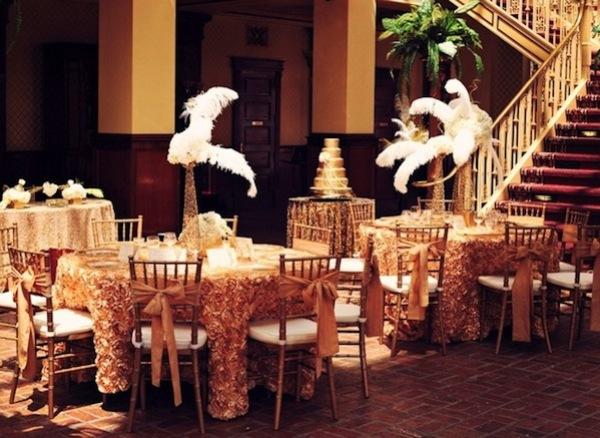 нюансы свадьбы в стиле Гэтсби