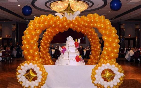 арка из воздушных шариков