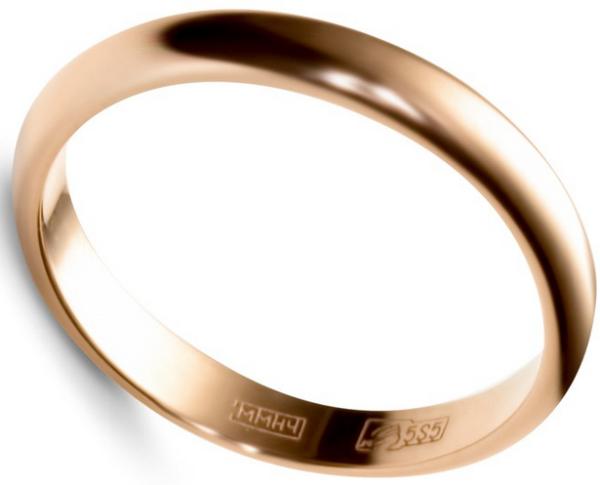 традиционное кольцо Адамас обручальное