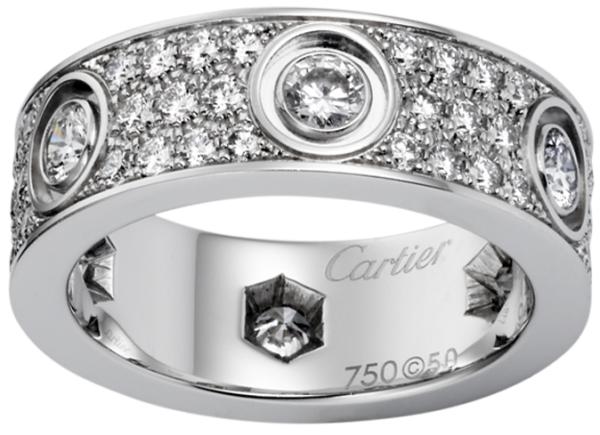 любовь - модель обручального кольца от Картье