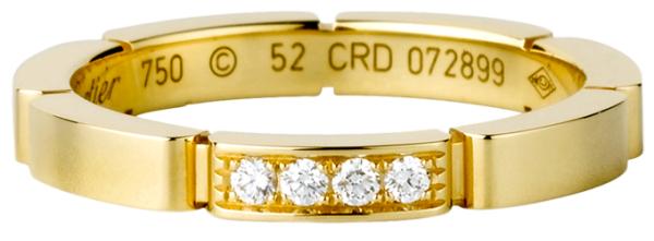 оригинальное обручальное кольцо Картье