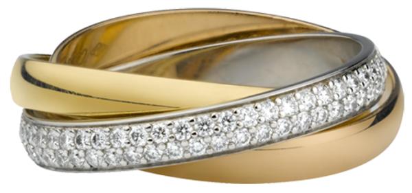шикарное обручальное кольцо Картье