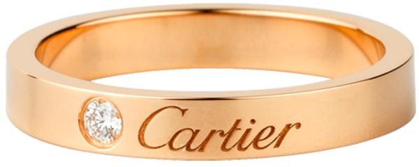 гравировка на обручальном кольце Картье