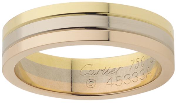 кольцо от Картье из трех цветов