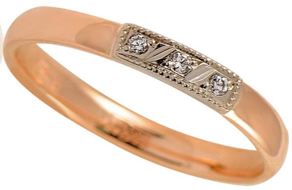 обручальные кольца Адамас с драгкамнями из золота