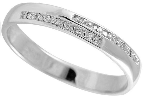 парные обручальные кольца Адамас со вставкой