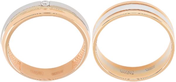 парные обручальные кольца от фирмы Адамас