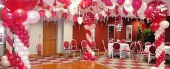 фото с примерами украшения зала шарами на свадьбу