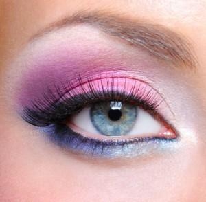 подбор теней для невесты с голубыми глазами