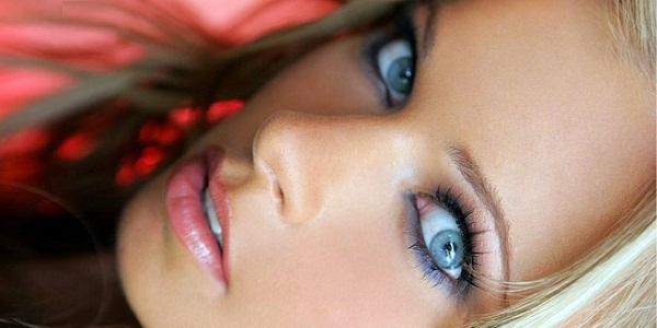 свадебный макияж для голубоглазой блондинки