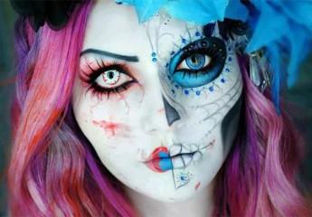 какой макияж можно сделать своими руками на хэллоуин