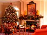 как красиво украсить комнату на новый год