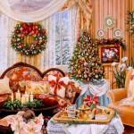 как самому красиво украсить комнату на новый год