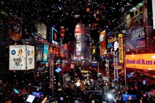 Как отмечают Новый год в США
